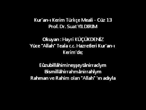 Kur'an-ı Kerim Türkçe Meali - Cüz 13
