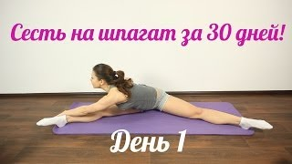 getlinkyoutube.com-Как быстро сесть на шпагат?! Лучшее- пошаговое видео обучение. День 1.