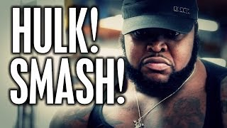 "getlinkyoutube.com-HULK SMASH!  CT FLETCHER INTRODUCES ""DA HULK"""