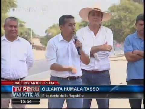 Presidente Humala inaugura obras ejecutadas en Tramo III de Carretera Panamerica Norte en Piura