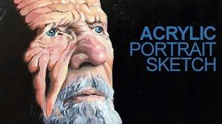 getlinkyoutube.com-Acrylic Portrait Painting