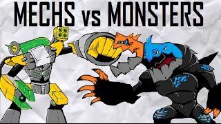 getlinkyoutube.com-CLOSED! Mechs vs Monsters MOC Contest (10,000-ish Sub Special)
