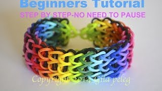 getlinkyoutube.com-Rainbow Loom-Multicolor Triple Single bracelet for beginners-STEP BY STEP