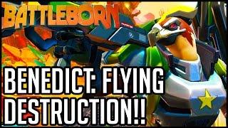 getlinkyoutube.com-Battleborn Gameplay - Multiplayer Part 2 - BENEDICT FLIES HIGH!! (PC/PS4/XB1 1080p 60fps HD)
