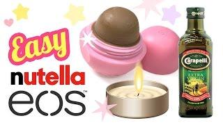 The EASIEST Diy Nutella Lip Balm Recipe EVER!! No Coconut Oil, No Beeswax - DIY EOS