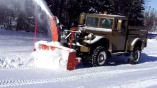 getlinkyoutube.com-PTO blower on 1952 M37 Dodge Power Wagon
