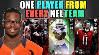 ONE PLAYER FROM EVERY NFL TEAM SQUAD BUILDER! Madden 17 Ultimate Team