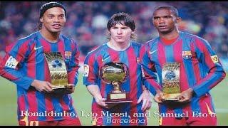 getlinkyoutube.com-Ronaldinho, Messi & Eto'o - Memories | FC Barcelona 2005/2006 | HD