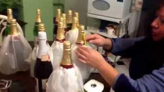 getlinkyoutube.com-Preparando las botellas de sidra con sus vestidos para la fiesta de Lynette Jimenez