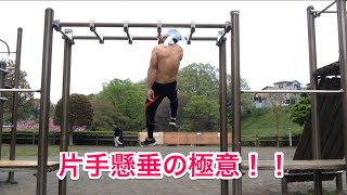 getlinkyoutube.com-【筋トレ】片手懸垂を修得するためのトレーニング第1弾!!