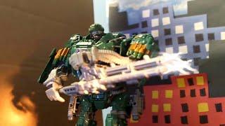getlinkyoutube.com-Transformers Age of Extinction : Hound vs Decepticons (Official Stop Motion)