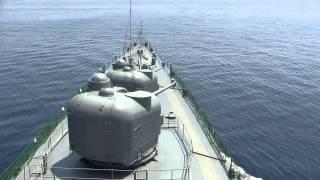 getlinkyoutube.com-発砲 大迫力 2砲塔同時 護衛艦 しらね DDH-143