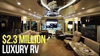 $2.3 MILLION Motorhome RV Tour - Millennium Prevost