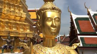 a tour through the grand palace complex in bangkok, thailand