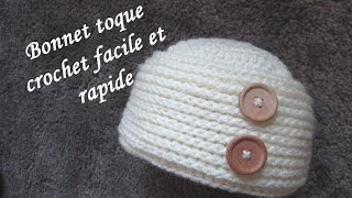 getlinkyoutube.com-TUTO BONNET TOQUE CROCHET FACILE hat easy crochet relief GORRO RELIEVE CROCHET
