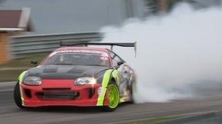 getlinkyoutube.com-MAD Supra 2JZ Driftmonkey drifting !