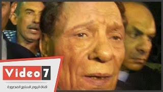 """getlinkyoutube.com-بالفيديو.. عادل إمام فى عزاء سعيد صالح: """"فقدت صديق العمر"""""""