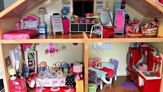 getlinkyoutube.com-HUGE AMERICAN GIRL DOLL HOUSE TOUR!!! UPDATED 2015