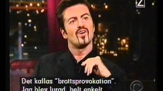 "getlinkyoutube.com-GEORGE MICHAEL at CBS ""Late Show with David Letterman"", (Monday November 09th, 1998)"