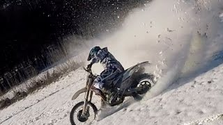 getlinkyoutube.com-Special Winterdays - Time to Powder // RR 125 Lc  Ktm EXC f 350 // Yamaha Dt 125 Porn // Enduro 2017