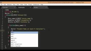 PHP and Mysql select, insert, update and delete Part2