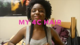 getlinkyoutube.com-MY REAL 4C HAIR TEXTURE / LENGTH CHECK