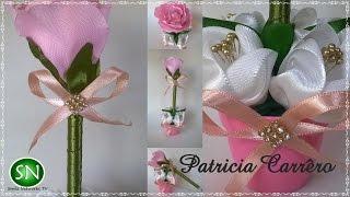 getlinkyoutube.com-Caneta com ponteira de rosa no vasinho DIY \ Pen with pink tip in the little vase