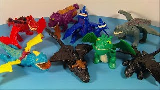 getlinkyoutube.com-2010 HOW to TRAIN YOUR DRAGON SET OF 8 McDONALD'S HAPPY MEAL MOVIE TOY'S VIDEO REVIEW