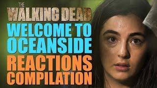 getlinkyoutube.com-The Walking Dead Season 7 | Welcome to Oceanside Reactions Compilation