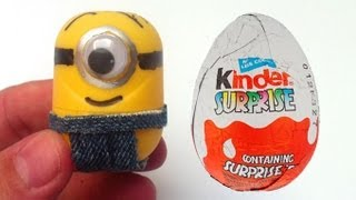 getlinkyoutube.com-How to make Minions from Kinder Surprise eggs Despicable unboxingsurpriseegg