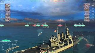 getlinkyoutube.com-Два боя из жизни Северной Каролины.    World of Warships