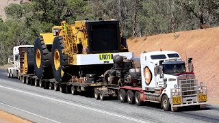 getlinkyoutube.com-Heavy Haulage - Caterpillar 994H - 190 tonne load being moved