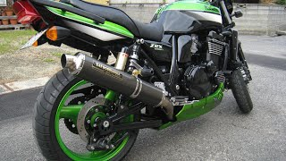 getlinkyoutube.com-Kawasaki ZRX1200R 【ヨシムラサイクロン チタン & カーボンマフラー】