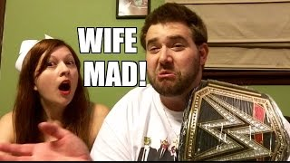 getlinkyoutube.com-Heel Wife RAGES over WWE REPLICA BELT and Wrestling Figures UNBOXING