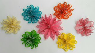 getlinkyoutube.com-Flores en 3D de papel para decoracion manualidades diy manolidades