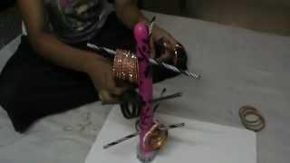 getlinkyoutube.com-NIKSHIPTAM; How to make a  Bangle stand from waste