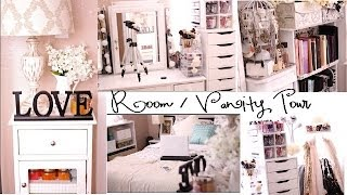 getlinkyoutube.com-Room Tour and Vanity Organization!