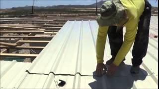 getlinkyoutube.com-Installing Metal Roofing Panels!