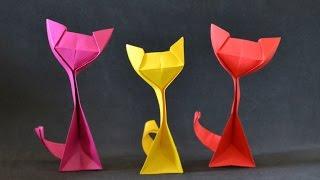 getlinkyoutube.com-Origami:  Kitty Cat