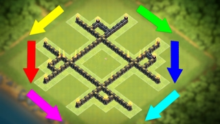"""getlinkyoutube.com-New """"UNBELIEVABLE"""" Town Hall 5 Trophy/War Base (COC TH5) BEST!! Defense Layout 2017 