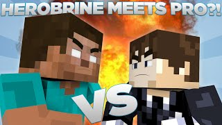 getlinkyoutube.com-Herobrine vs Pro - Minecraft