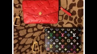 getlinkyoutube.com-Louis Vuitton Comparison: Multicolor Cles & Empreinte Cles