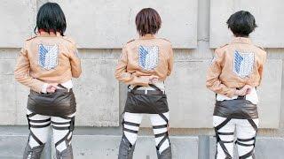 getlinkyoutube.com-Shingeki no Kyojin Cosplay [Eren, Levi & Mikasa] I am the best