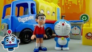 getlinkyoutube.com-Recicla con Doraemon y Nobita - Juguetes de Doraemon