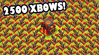 "getlinkyoutube.com-2500 XBOWS? - Clash of Clans - ""NEW UPDATE CAULDRON IS OURS!"" Getting X Bow Achievement + Banned?"