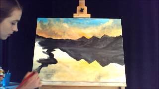 getlinkyoutube.com-Speed Painting of a Mountain Reflection