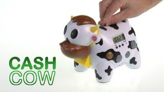 getlinkyoutube.com-Cash Cow Electronic Talking Bank and Game