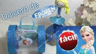 getlinkyoutube.com-Dulcero de Elsa de Frozen Material Reciclado Botellas Plasticas