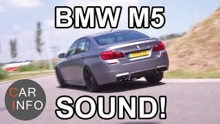 getlinkyoutube.com-Frozen Grey BMW M5 Competition Package: Testdrive & Sound 2014