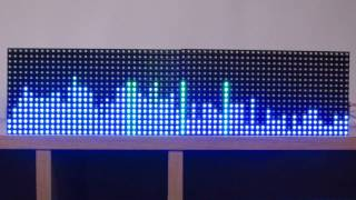 getlinkyoutube.com-16 x 64 RGB matrix Arduino spectrum analyzer 64 band